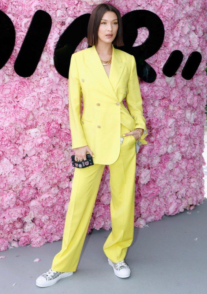 Bella Hadid at Dior Homme.