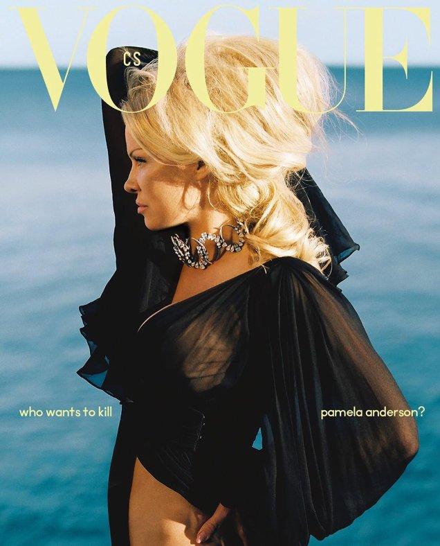 Vogue Czechoslovakia June 2019: Pamela Anderson by Dan Beleiu