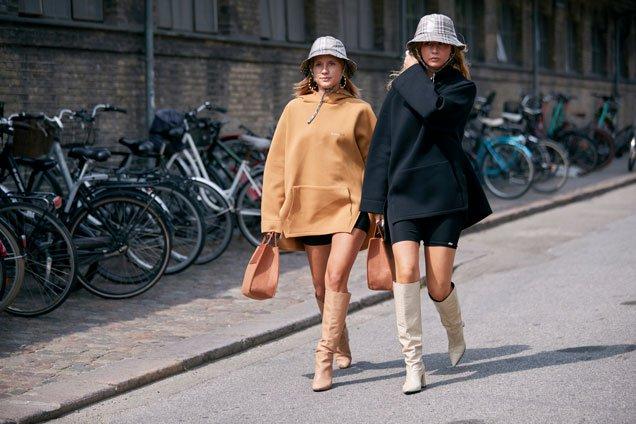 Sweatshirts seen on the street during Copenhagen Fashion Week, Spring 2020.