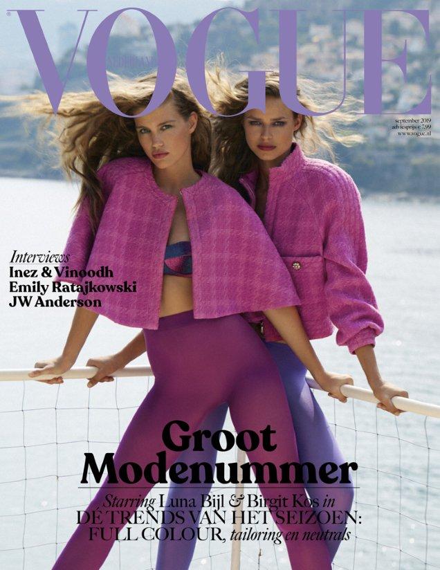 Vogue Netherlands September 2019: Luna Bijl & Birgit Kos by Carlijn Jacobs