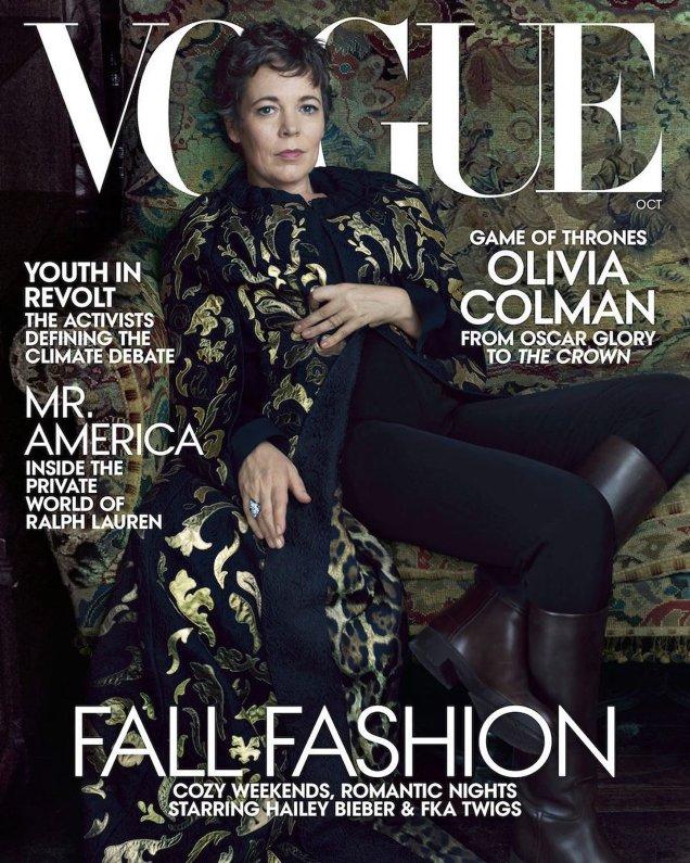 US Vogue October 2019: Olivia Colman by Annie Leibovitz