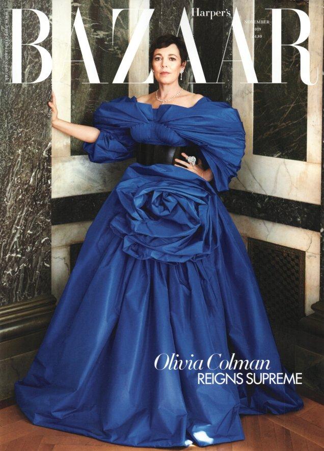 Harper's Bazaar November 2019: Olivia Colman by Alexi Lubomirski