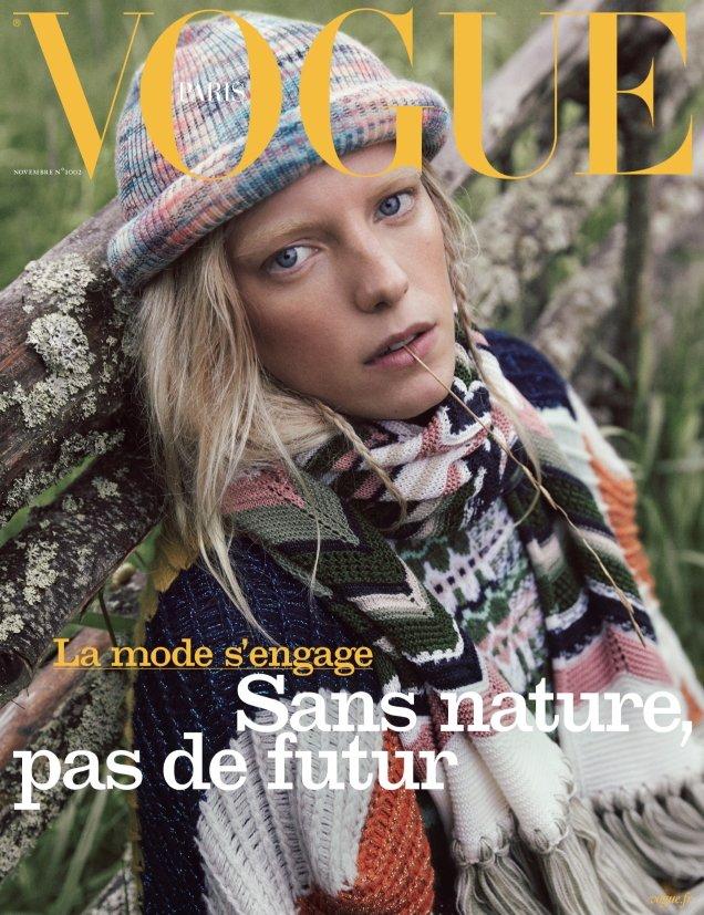 Vogue Paris November 2019: Erika Linder by Mikael Jansson