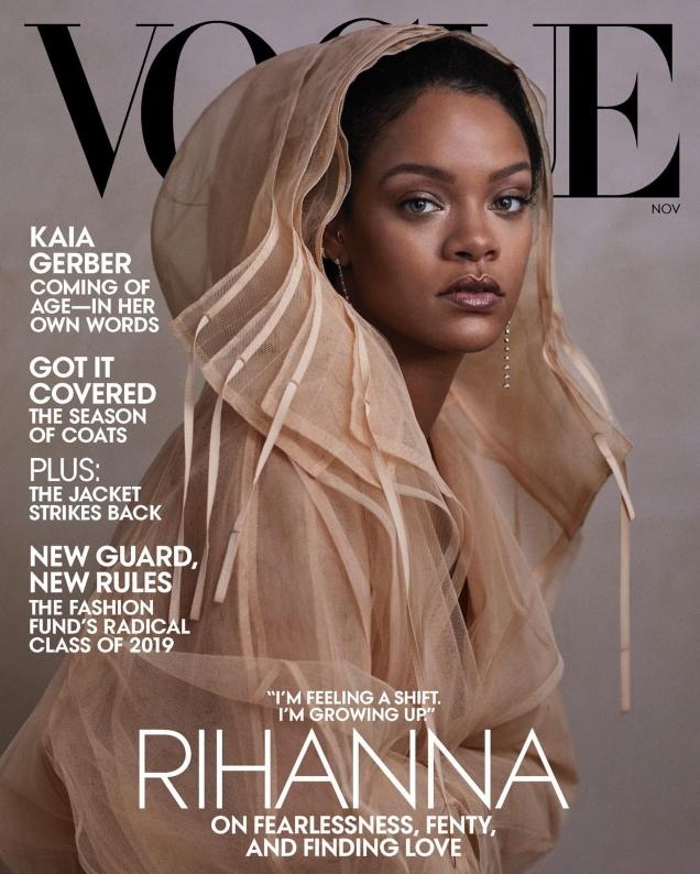 US Vogue November 2019: Rihanna by Ethan James Green
