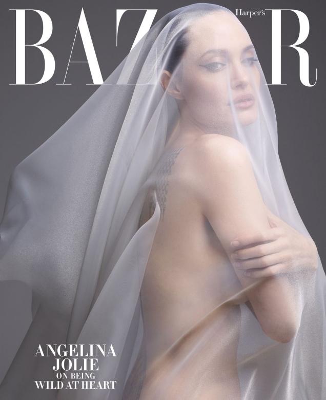 US Harper's Bazaar December 2019 / January 2020: Solve Sundsbo's Angelina Jolie