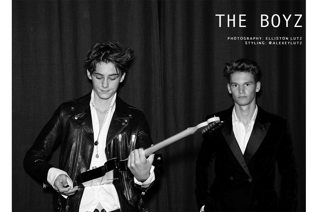 Elliston Lutz Fashion Editorial for Teen Boys, The Boyz with William Franklyn Miller