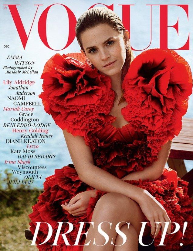 UK Vogue December 2019: Emma Watson by Alasdair McLellan