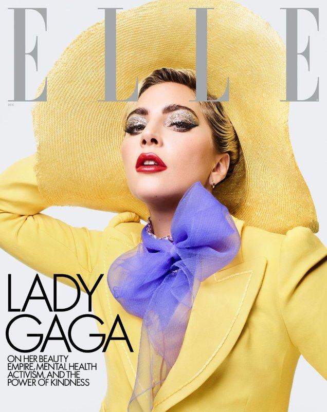 US Elle December 2019: Lady Gaga by Sølve Sundsbø