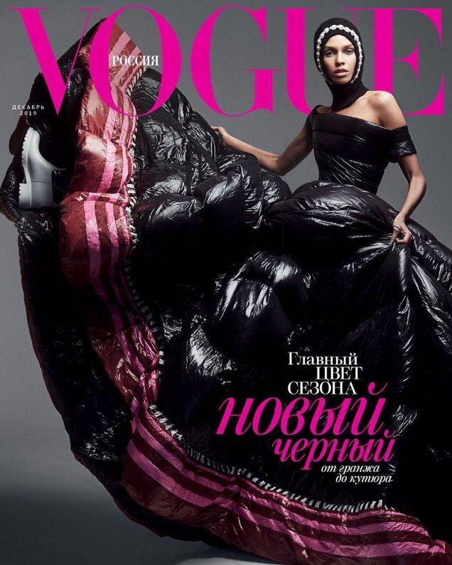 Vogue Russia December 2019: Irina Shayk and Stella Maxwell by Zoey Grossman