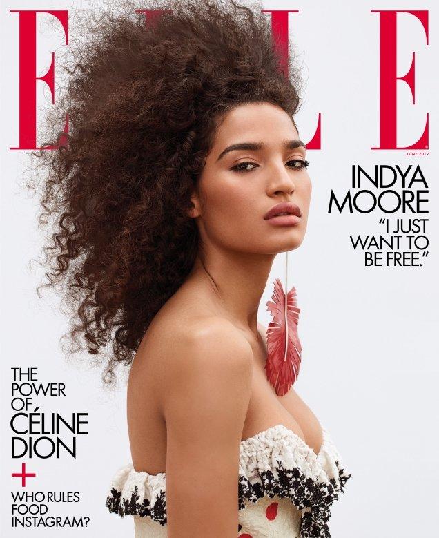 US Elle June 2019: Indya Moore by Zoey Grossman