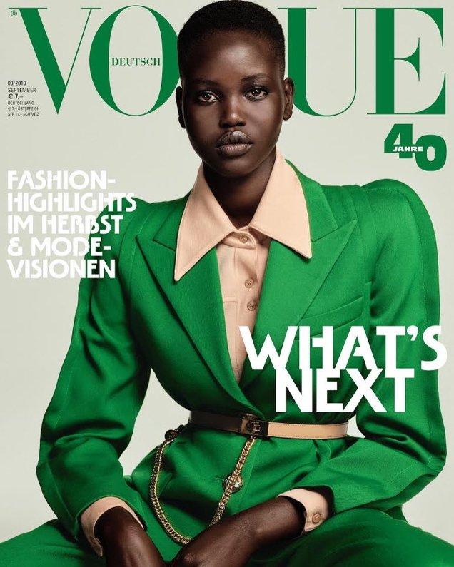 Vogue Germany September 2019: Adut Akech & Rebecca Longendyke by Chris Colls