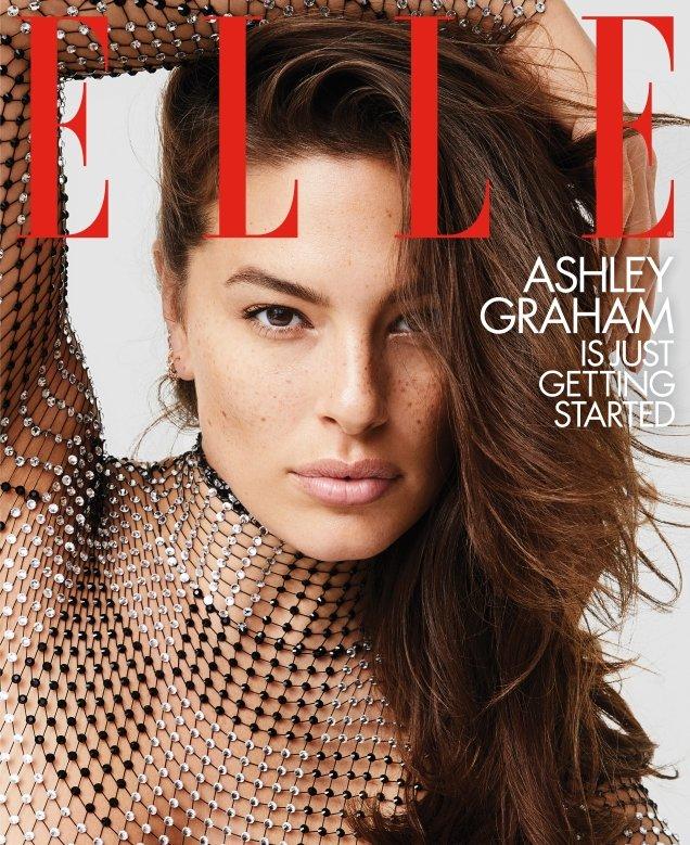 US Elle February 2019: Ashley Graham by Carin Backoff