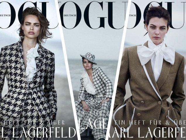 Vogue Germany July 2019: Birgit Kos, Luna Bijl & Vittoria Ceretti by Peter Lindbergh