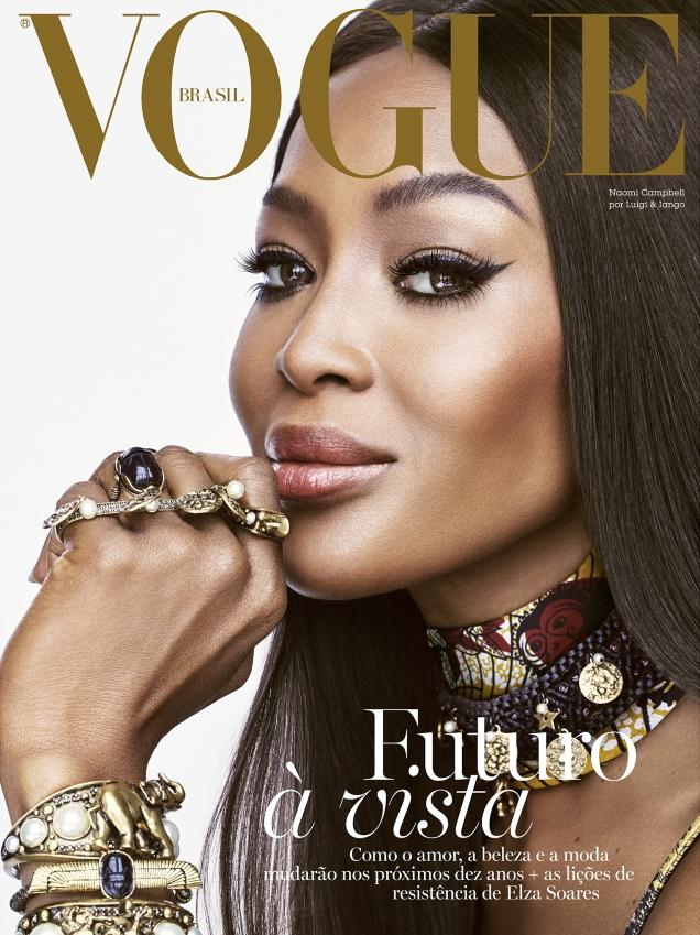 Vogue Brazil December 2019: Naomi Campbell by Luigi & Iango