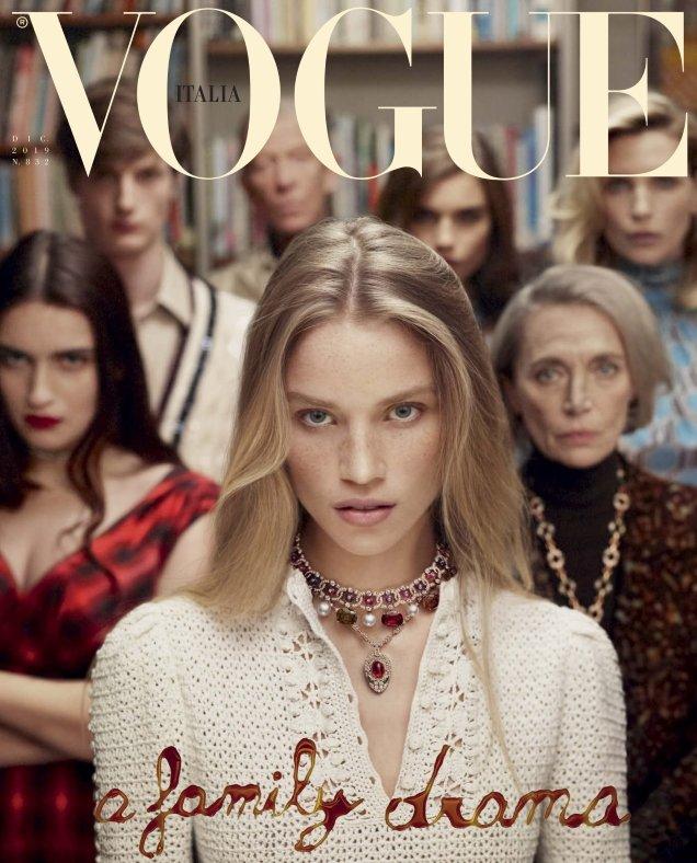 Vogue Italia December 2019: Rebecca Longendyke by Mert Alas & Marcus Piggott