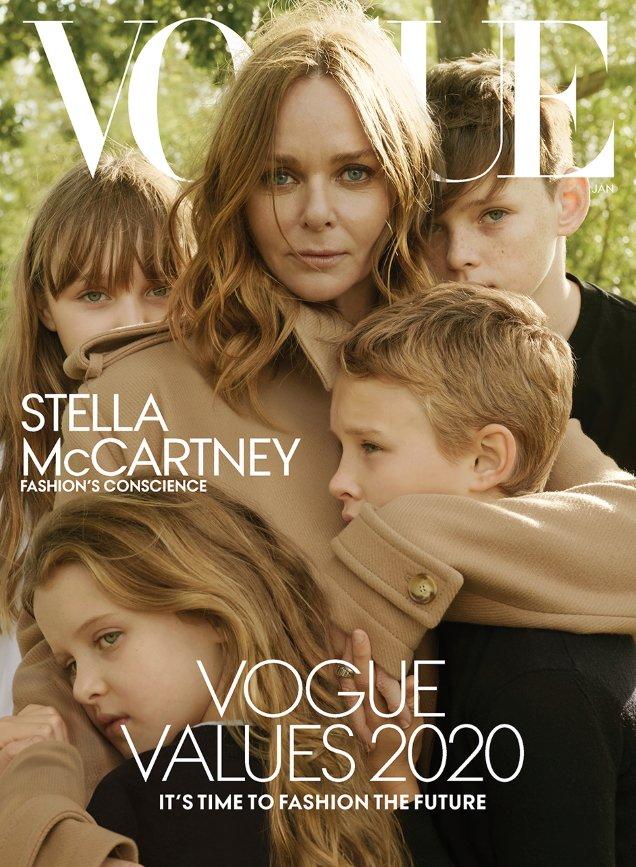 US Vogue January 2020: Stella McCartney & Family by Annie Leibovitz