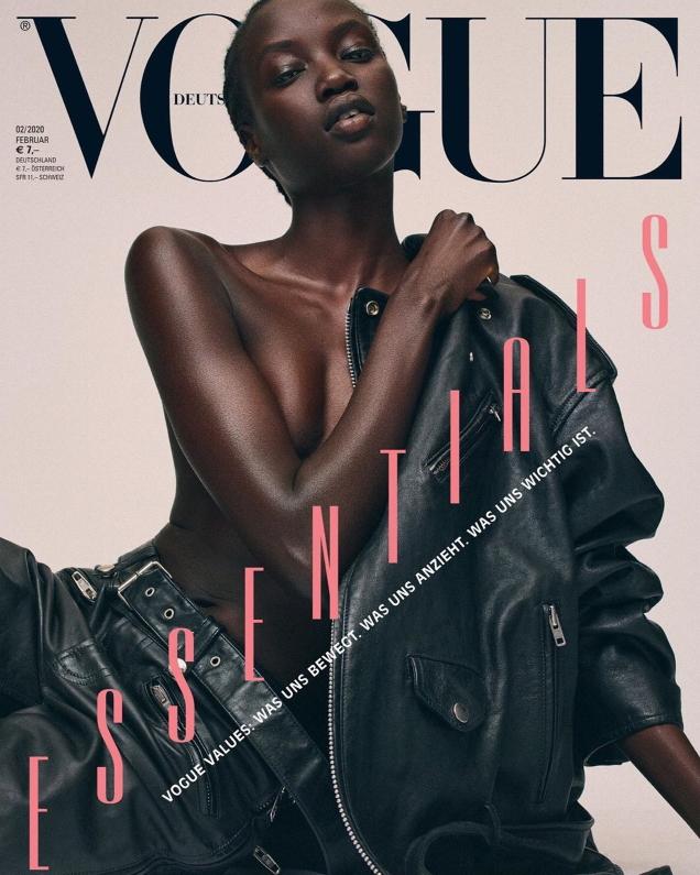 Vogue Germany February 2020: Anok Yai, Mica Arganaraz & Othilia Simon by Gregory Harris