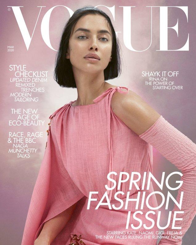 UK Vogue March 2020: Irina Shayk by Mert Alas & Marcus Piggott