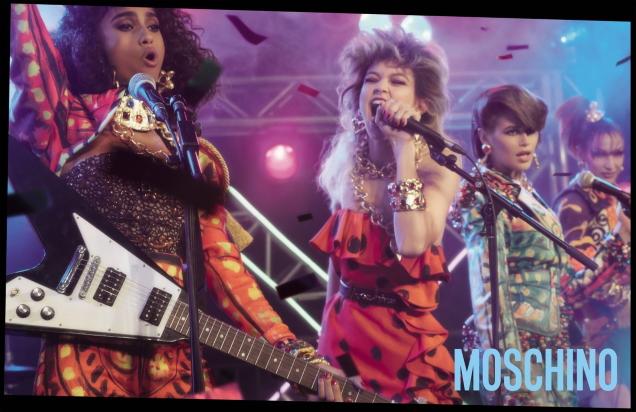 Moschino S / S 2020: Gigi, Bella, Kaia, Imaan, Adut & Tyra by Steven Meisel
