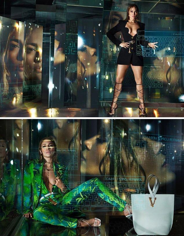 Versace S / S 2020: Jennifer Lopez & Kendall Jenner by Mert Alas & Marcus Piggott