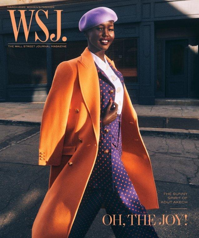 WSJ Magazine March 2020: Adut Akech by Mikael Jansson