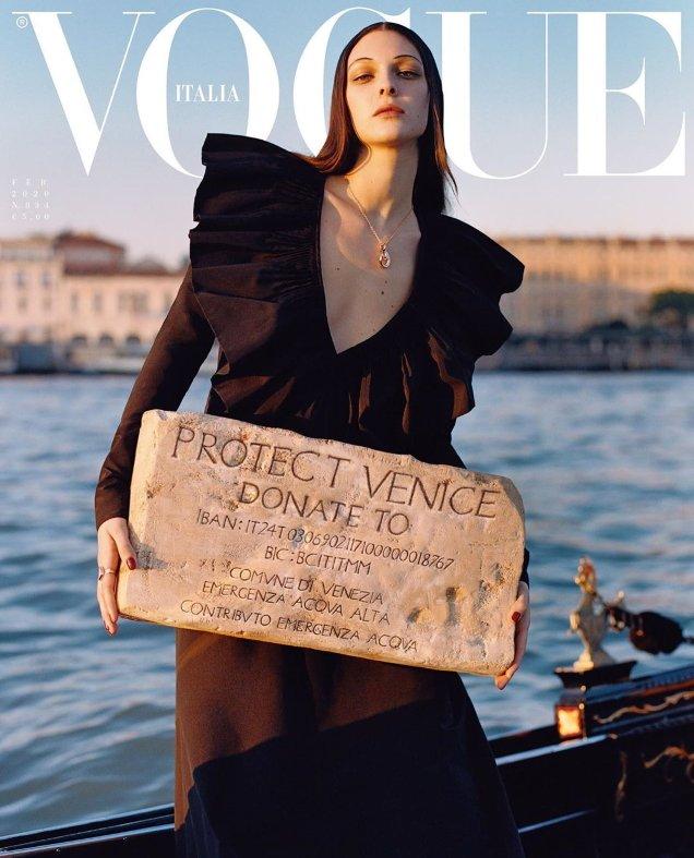 Vogue Italia February 2020: Vittoria Ceretti by Oliver Hadlee Pearch