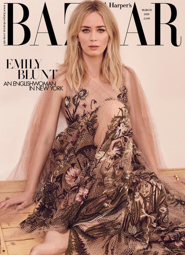 UK Harper's Bazaar March 2020: Emily Blunt by Pamela Hanson
