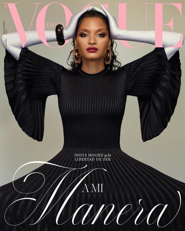 Vogue España November 2020: Indya Moore by Thomas Whiteside