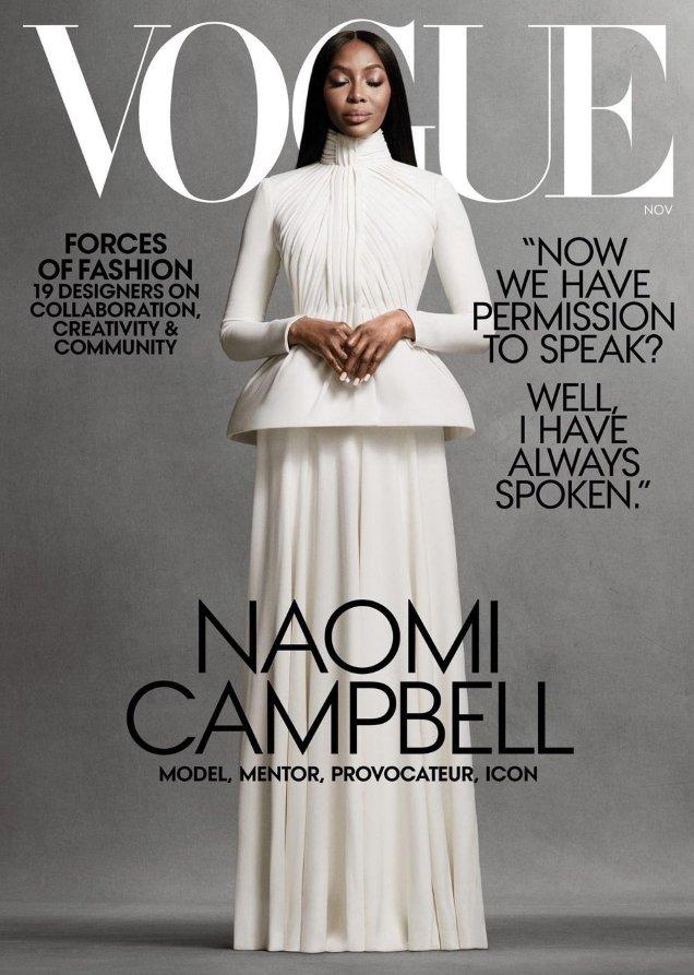 US Vogue November 2020: Naomi Campbell by Ethan James Green