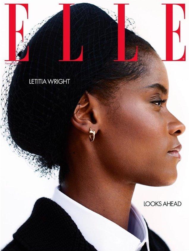 UK Elle November 2020: Letitia Wright by Marcin Kempski