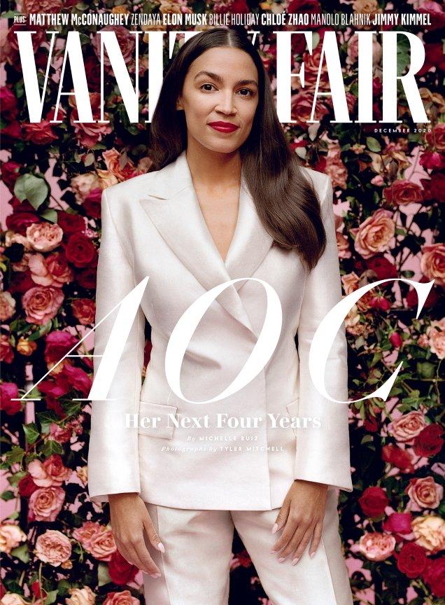 Vanity Fair December 2020: Alexandria Ocasio-Cortez by Tyler Mitchell