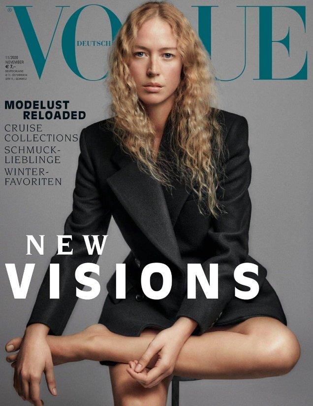 Vogue Germany November 2020: Raquel Zimmermann by Chris Colls