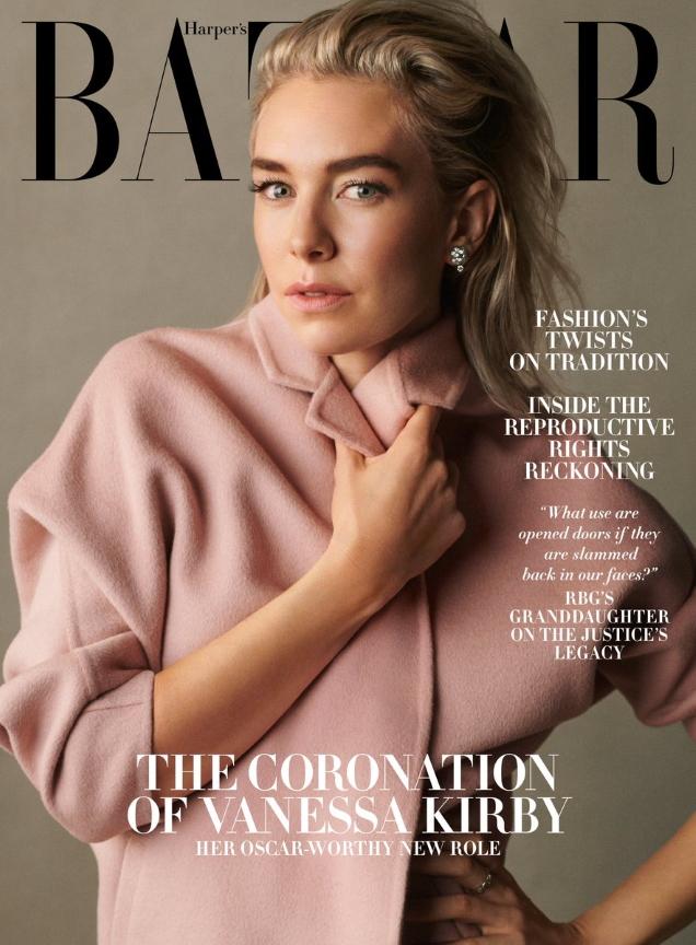 US Harper's Bazaar December 2020 / January 2021: Vanessa Kirby by Scott Trindle