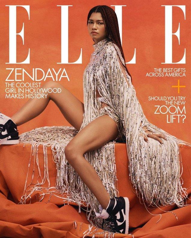 US Elle December 2020 / January 2021: Zendaya by Micaiah Carter