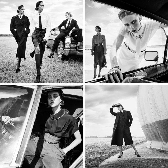 Zara F / W 2020.21: Rianne, Mona, Mika and Sacha by Steven Meisel